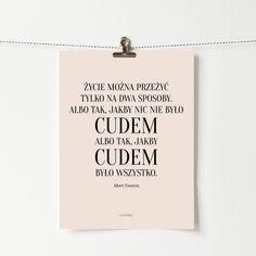 Remainders, Flask, Einstein, Motivational, Typography, Polish, Wisdom, Thoughts, Words