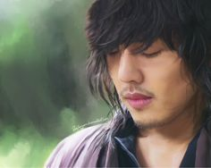 Korean Drama: Sungkyunkwan Scandal. Actor: Yoo Ah In Character Name (Drama): Moon Jae Shin/ or nick name: Gul Oh. Airbrushing all done by mouse and hand lol I NEED A TABLETTT O)-<