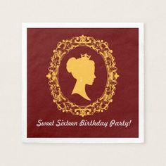 Vintage Victorian Sweet Sixteen | Birthday Napkin