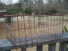 Vintage Metal Wire Basket...Industrial by AlloftheAbove on Etsy, $25.00