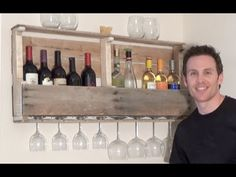 HOW TO BUILD A WINE RACK FROM A WOOD PALLET