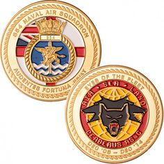 854 Naval Air Squadron challenge coin from www.worldchallengecoins.co.uk