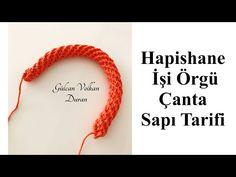 Hapishane İşi Örgü Çanta Sapı Tarifi - YouTube Youtube, Dots, Totes, Youtubers, Youtube Movies