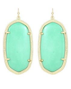 Danielle Earrings in Mint Green - Kendra Scott Jewelry.