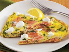 Smoked Salmon and Herb Frittata.