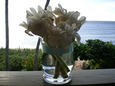 ❤My Wedding Decor DIY Flowers Arrangement❤for my Beach Wedding with a touch of Tiffany flare , Fun , Elegance & Class !