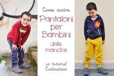 Come cucire pantaloni per bambini dalle maniche