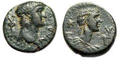 "Ancient Coins - Nero AE16 ""Bust of Empress Poppaea / Statilia Messalina"" Mysia…"