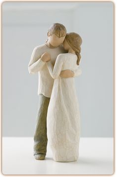A loving symbol to keep in your relationship area! Willow tree figures have a few different ones! #placementdesign