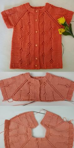 Small Boxes Knitting Baby Vest - Crochet Clothing and Accessories Baby Knitting Patterns, Knitting For Kids, Crochet Patterns, Baby Pullover, Baby Cardigan, Baby Sweaters, Girls Sweaters, Knitted Baby Blankets, Small Boxes