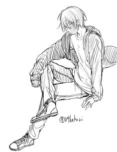 Sachiiro no One Room Cute Anime Boy, Anime Art Girl, Anime Guys, Manga Art, Boy Hair Drawing, Body Drawing, Character Poses, Character Art, Onii San