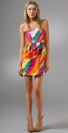 Shoshanna Strapless Tulip Dress | SHOPBOP