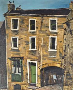 """Whitman Place""..Oil by Peter Brook 1927-2009..Yorkshire lad.."