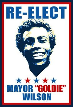 Re-Elect Mayor Goldie Wilson Movie Indoor/Outdoor Plastic Sign Back To The Future Party, The Future Movie, Wilson Movie, Cool Posters, Movie Posters, Great Scott, Science Fiction, Bttf, Marty Mcfly