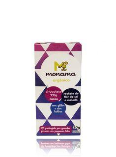 Chocolate Orgânico com Recheio Flor de Sal e Melado