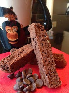 double chocolate mocha biscotti | low carb, sugar free, gluten & grain free - almond flour based.