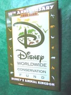 DISNEY 1998-2008 WORLDWIDE CONSERVATION FUND ANIMAL KINGDOM LAPEL PIN - Lot#100