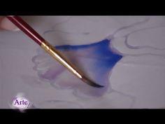 Cómo pintar sobre seda - YouTube