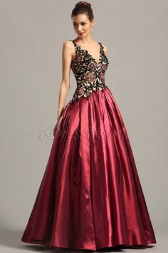 eDressit Vintage Sleeveless V Neck Formal Gown Prom Dress (02154917)
