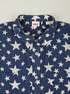 Levi's Vintage Clothing Men's Long-Sleeve Star Shirt | oki-ni