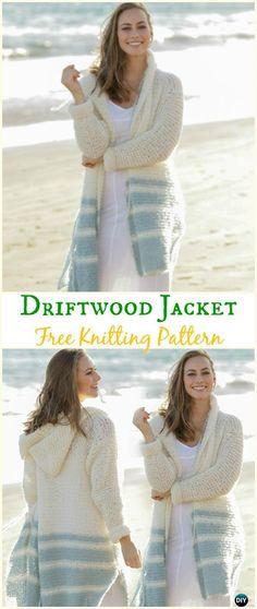Women's Driftwood Jacket Cardigan Free Knitting Pattern - Knit Women Cardigan Sweater Coat Free Patterns
