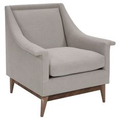 Check out this item at One Kings Lane! Agston Linen Accent Chair, Natural