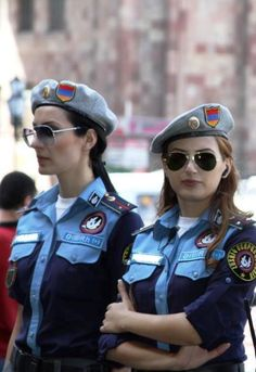 "Happy Independence day Armenia (picture of Armenian female police officers ""Vosdigan/male officer"" or ""Vosdiganouhi/female officer"")"