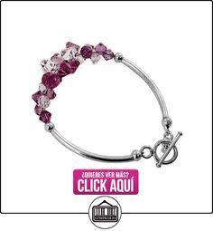 SCBR010 broche de plata de ley rosa y de cristal transparente 19,05 cm pulsera con elementos de Swarovski  ✿ Joyas para niñas - Regalos ✿ ▬► Ver oferta: http://comprar.io/goto/B00079UHHA