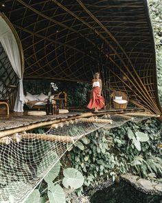 Staying in One of the Most Beautiful Treehouse Hotels in the World – Bambu Indah… Aufenthalt in einem der schönsten Baumhaus-Hotels der Welt – Bambu Indah, Bali Travel Bali Travel, Wanderlust Travel, Beautiful World, Beautiful Places, Beautiful Hotels, Places To Travel, Places To Visit, Travel Things, Travel Photos
