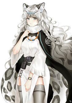 Anime Neko, Anime Furry, Cool Anime Girl, Beautiful Anime Girl, Anime Art Girl, Manga Girl, Anime Snow, Persona Anime, Tiger Girl