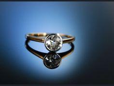 Antique engagement diamond ring! Antiker Solitär Ring Verlobungsring Gold 585 Diamant 0,75 ct um 1900, Antikschmuck bei Die Halsbandaffaire