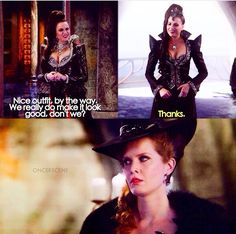 """""""Nice outfit, by the way. We really do make it look good, don't we?"""" - The Evil Queen, Regina and Zelena #OnceUponATime (by oncerscene)"""
