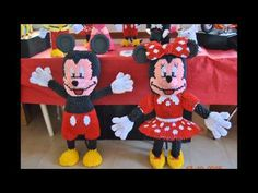 ORIGAMI 3D TOPOLINO E MINNIE by FILIPPO - YouTube