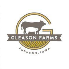 Gleason Farms logo by Moglea Cow Logo, Farm Logo, Logo Branding, Branding Design, Honey Logo, Brand Packaging, Food Packaging, Packaging Design, Funny Babies