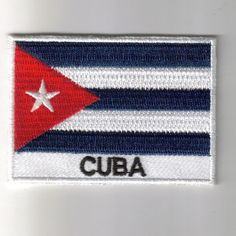 Cuba flag embroidered patches