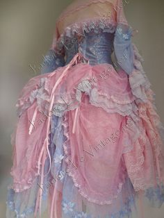 Spectacular and unique custom made Corset based designer dress. Designed in a style of Marie-Antoinette.  5 pieces set , as you can see it gives a look as a one piece corset based dress.