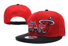 NBA Miami Heat Snapback Hats Caps Reds Black 2692! Only $8.90USD