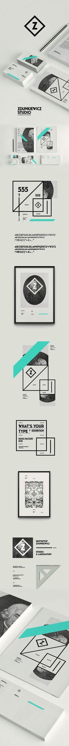 Zdunkiewicz Studio / Self Promotion #branding #identity #zdunkiewicsstudio. If you like UX, design, or design thinking, check out theuxblog.com
