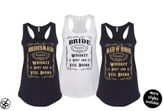 Country Bride Bachelorette Party Tank Top - Whiskey Bent and Veil Bound Tank Top - Bride & Bridesmaid Shirt by 86LevelStDesign on Etsy