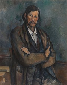 Paul Cézanne - Man with Crossed Arms (Homme aux bras croisés). ca. 1899 | Guggenheim Museum