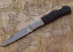 Imai: Custom Pocket Knife - Jigged Bone $280