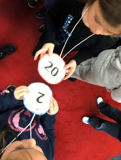 Double Bubble Number Necklaces adding a multiple of ten and a single digit