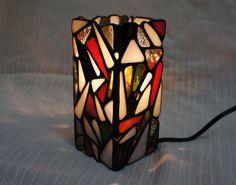 Mosaic Night Lamp Red Lamp Lantern Interior by SleepingNightOwl on Etsy