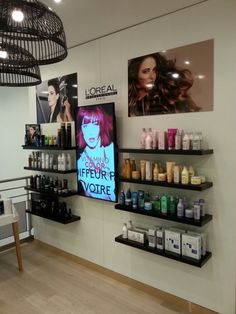 loreal, salon digital signage, crowntv