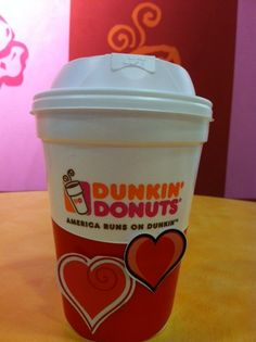 It's ok to wear your heart on your (coffee cup) sleeve. #DDLove