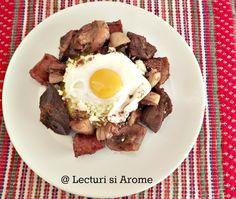 tochitura moldoveneasca Romanian Food, Romanian Recipes, Pot Roast, Lunch, Beef, Ethnic Recipes, Pork, Carne Asada, Meat