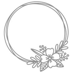 Silhouette Design Store - Product ID Embroidery Patterns Free, Embroidery Designs, Machine Silhouette Portrait, Doodle Frames, Hand Type, Bullet Journal Ideas Pages, Cricut Creations, Flower Frame, Silhouette Design
