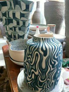 paper resist ceramic decoration - Google Search