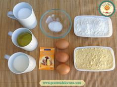 Ingredientes pan de maíz. Corn bread ingredients.