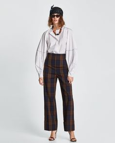 ZARA - NEW COLLECTION - CHECKED TROUSERS
